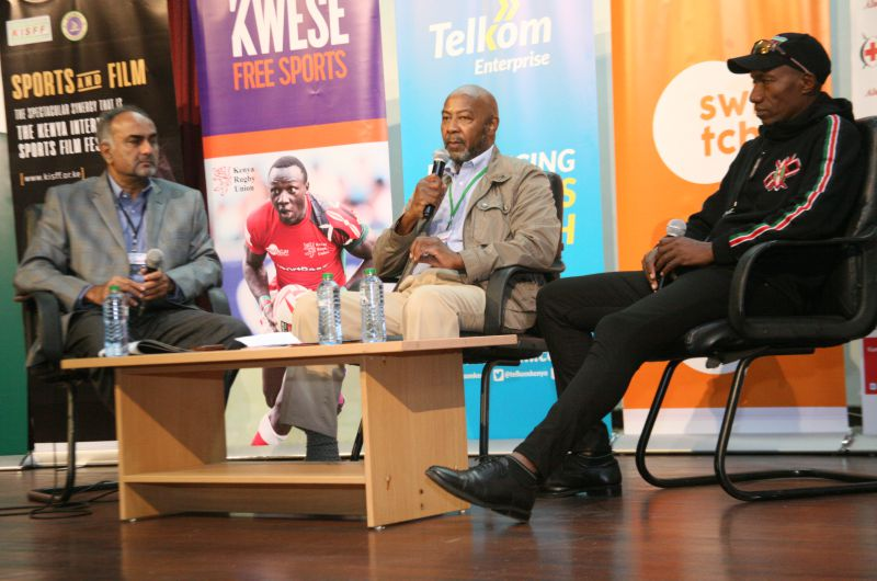 Aasif-Karim-Richard-Njoba-and-Douglas-Wakiihuri-during-the-post-sports-life-panel-session