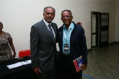 Aasif-Karim-and-Abdul-Sidi-pose-for-a-photo-before-the-opening-ceremony