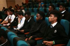 Students-from-Braeburn-school-among-the-audience-during-the-opening-ceremony