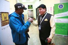 KISFF-Brand-ambassador-Douglas-Wakiihuri-speaks-with-Indian-curator-Captain-Rahul-Bali