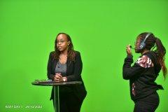 Ms-Gakenia-of-iGabantu-studios-briefing-Ms-Rowena-Tirop-before-her-speaker-session-on-Sport-Psychology