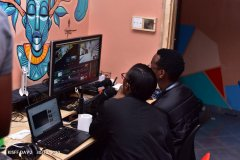 KISFF-2020-Content-producer-Ms-Miriam-Kadzitu-and-Technical-Director-Amos-Sinde-at-work