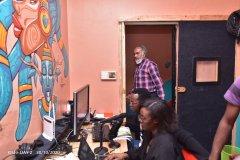 Mr-Aasif-Karim-and-iGabantu-studios-Production-team-monitor-the-proceedings