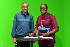 Mr-Aasif-Karim-and-Mr-Raphael-Nyabala-in-studio-after-Mr-Raphaels-panel-discussion-on-the-progress-of-the-differently-abled
