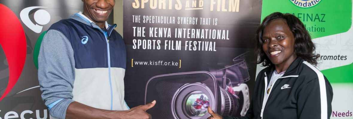 Kenyan International Athletic Legends...Douglas Wakiihuri and Rose Tata Muya. Proud brand Ambassadors and Panelists for The Kenya International Sports Film Festival.